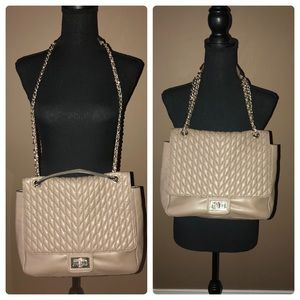 Karl Lagerfeld Faux Leather Purse w/chain straps
